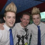 Jedward at their cd siging in letterkenny with highland radios Lee Gooch!