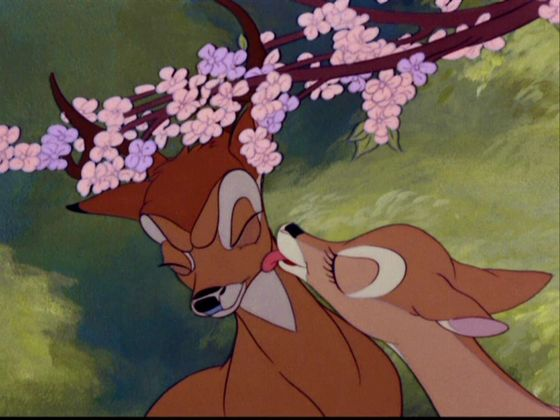 Bambi&Faline♥ So brave step from Faline ...