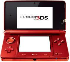 This is the Nintendo 3ds. Colour: Red and black, but don't worry there are iven other colours! ;)