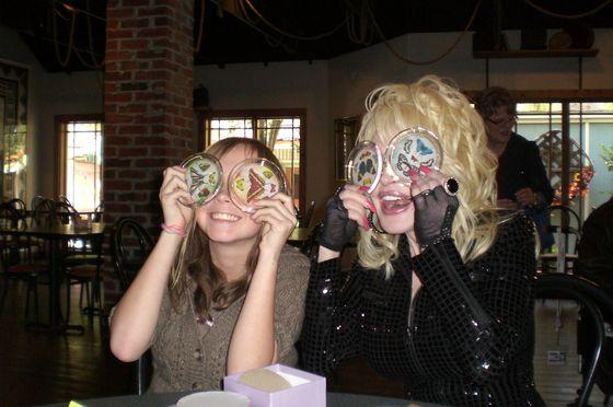 Amanda and Dolly having fun