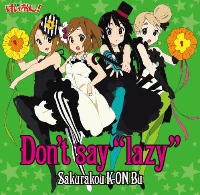 "Dont say ""lazy"""