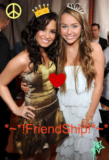 miley and demi!