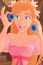 Giselle starts off as a cartoon and then in human form when she comes to NYC .