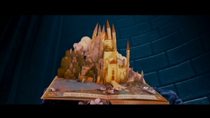 #1 The introduction:Before we go to the film we see a book kept inside the Walt Disney château and the camera zooms into the château where we see a golden book. Whoever came up with the design for this book should have got a bloody Oscar for his designs.