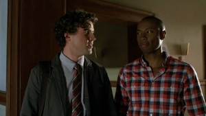 Morgan Lewis and Lewis doesn't seem impressed at all when Marti tells that she and Morgan are going to visit a prison as part of a law project in class.