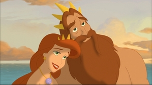 Who's the most beautiful daughter of King Triton and Queen Athena?