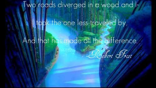 from The Road Not Taken 由 Robert Frost