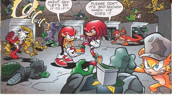 The Chaotix and Downunda Freedom Fighters fighting the Platypus Legion