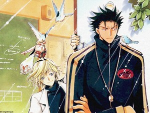 Kurogane and Fai( with mokana!!XD)