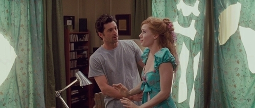 Another LOl scene where Giselle made a dress out of Robert's curtains