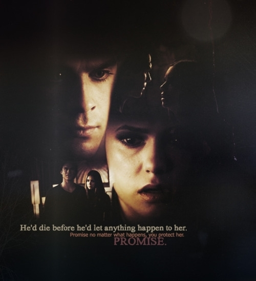 Damon promised to protect her, which therefore means that he will be with her for most, if not, all the scenes with Elena!