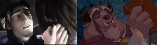 Flynn: Rapunzel, আপনি were my dream, Beast: at least I got to see আপনি one last time :'''(