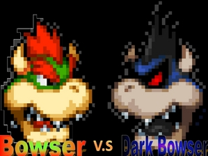 Mario And Luigi Bowsers Inside Story Dark Fawful Bowser vs  dark bowser