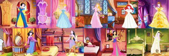 About Each Princess' Dress