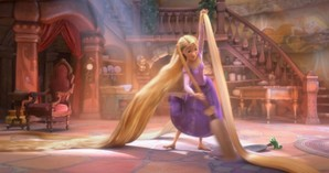 Rapunzel with blonde hair I amor her hair and her personality.