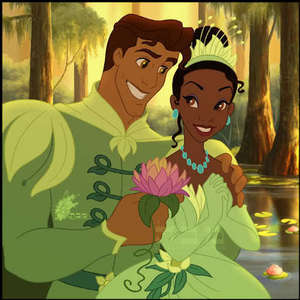 Tiana and Naveen but there is just no chemistry between the two compare to Tangled.