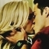 Caroline and Tyler kiss