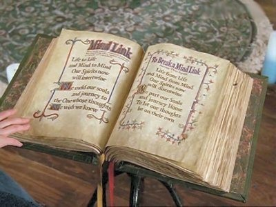 'Book of Shadows! I would 愛 to read it once! So much magic and spells in one book,going on from generation to generation!'
