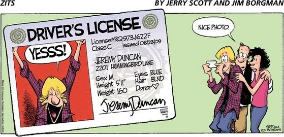 Jermey got his Driver's License.