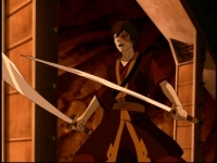 Though a Firebending Master, Zuko is also gifted in the art of Dual Swordmanship.