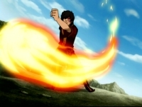 Zuko demonstrating his new foundation of Firebending.