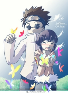 Shino and hinata... and butterflies.