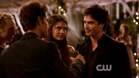 Mine . I upendo Elena's look at Damon here. They look so right.