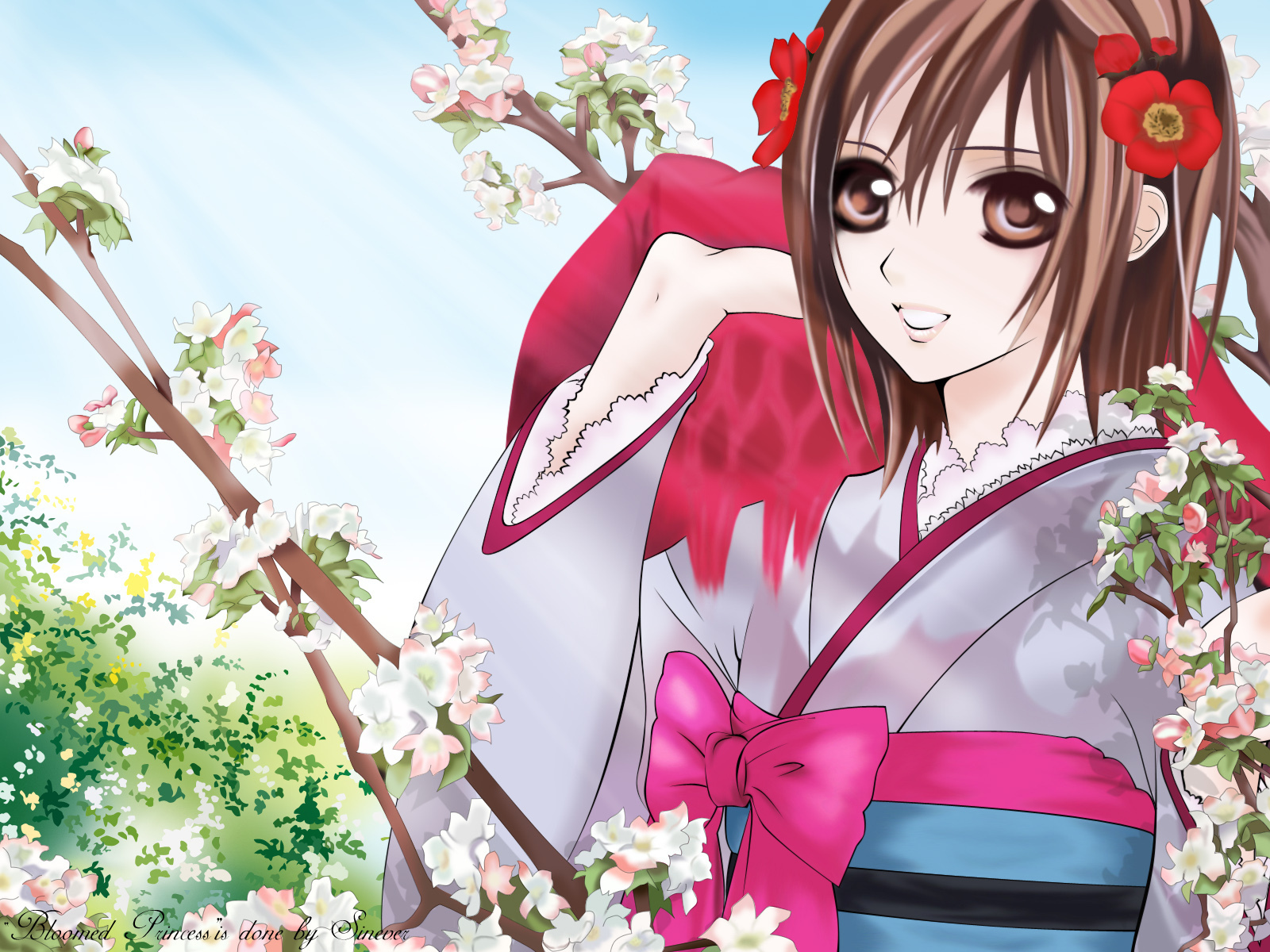 Anime Characters Kimono : Anime character wearing a kimono fanpop