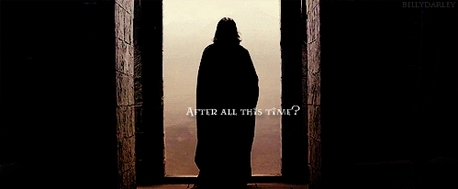 This is one of my favourite movie scenes. Severus standing there all alone