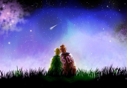 My night picture. And of course it has something to do with Hetalia. XD