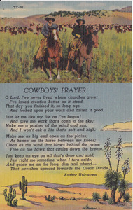 Here's a classic poem - the Cowboy's Creed