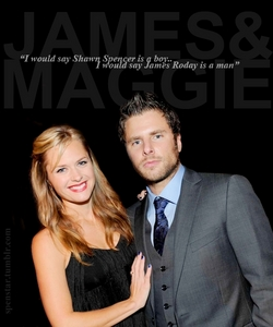 <i>Day #15 - What is your favourite real life pairing?</i> James Roday and Maggie Lawson who play Sh