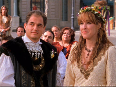 dia 12: Who had the best wedding? Liz Danes and TJ from Gilmore Girls amor this wedding!!Hilarius!