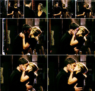 <b>Day 6: The best kiss. </b> Ross and Rachel`s first kiss in episode The One Where Ross Finds Out