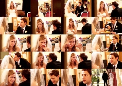 [i]Day 12: Who had the best wedding? [/i] Jim & Pam.