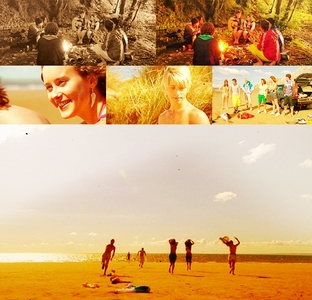 dag 14- A scene that makes u happy The Gen1 gang arriving at the beach♥
