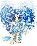 This is me The mermaid-looking thing is fairy form and the person is spirit form