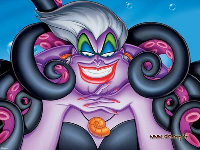"^Ursula, hands down! She's funny and has the best villain laugh ever! >""Aladdin"" is on ABC Family rig"