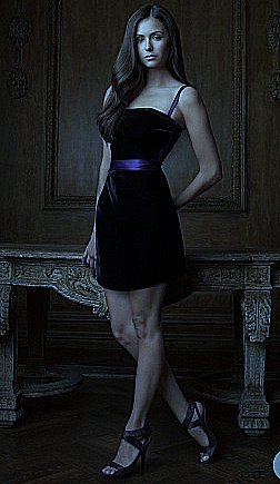 nina dobrev in a short dress