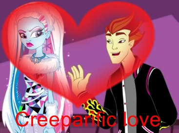 """They make a cute couple!!! Becuz they r opposites :) Find a pic of Clawdeen howling in the webisode """""""