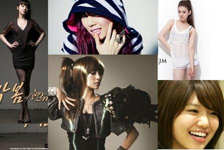 Group : Starstruck Members : Sooyoung [Face of the group] Hyuana [Rapper] Nicole [Lead dancer] Bom [