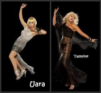 Names; Tasmine and Uara (Torres Last Name) Ages; 15  hair colors ; blonde eye colors; icy blue Sk