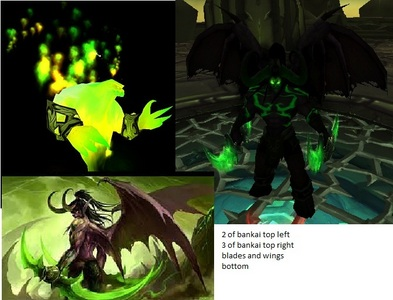 This is my 초 Zanpakuto based on World of Warcraft This one is one Illidan Stormrage Shikai: I