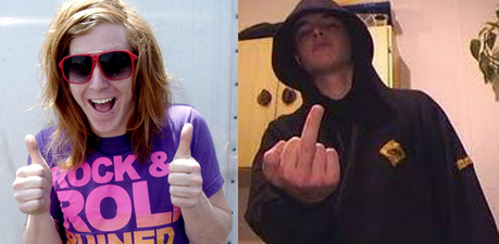 Looks, obvs. EXAMPLE : 1st Pic- British Person 2nd Pic: American Person :) x YEah...bascis sums it up