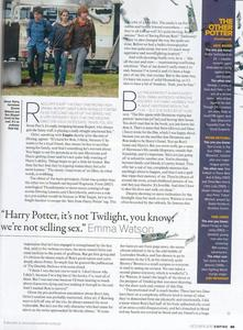 "LOL - Emmas big quote in the middle reads: ""Harry Potter, its not Twilight Ты know, we're not sel"