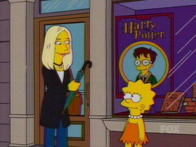 ^ haha Did bạn see the simpsons episode where JK Rowling did a voice over?