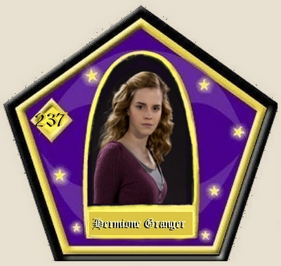 And here is a Hermione card.