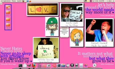 I'm making my new wallpaper, cause I is bored What y'all think so far? :) x And yeah I know there's a