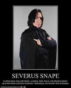 Snape is awsome.
