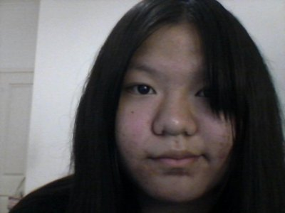 Aw, wewe have pretty hair! This is me without my glasses. This is the best I could do, lol.
